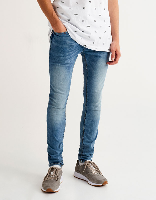 Jeans superskinny azul oscuro