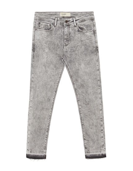 Jeans superskinny fit gris