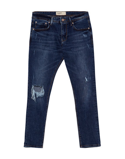 Jeans supersinny fit rotos