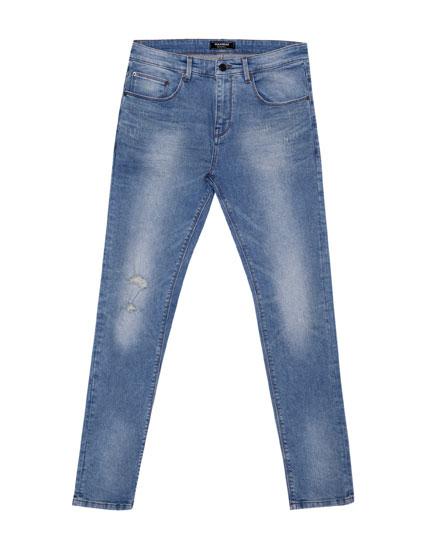 Verwaschene Skinny-Fit-Jeans
