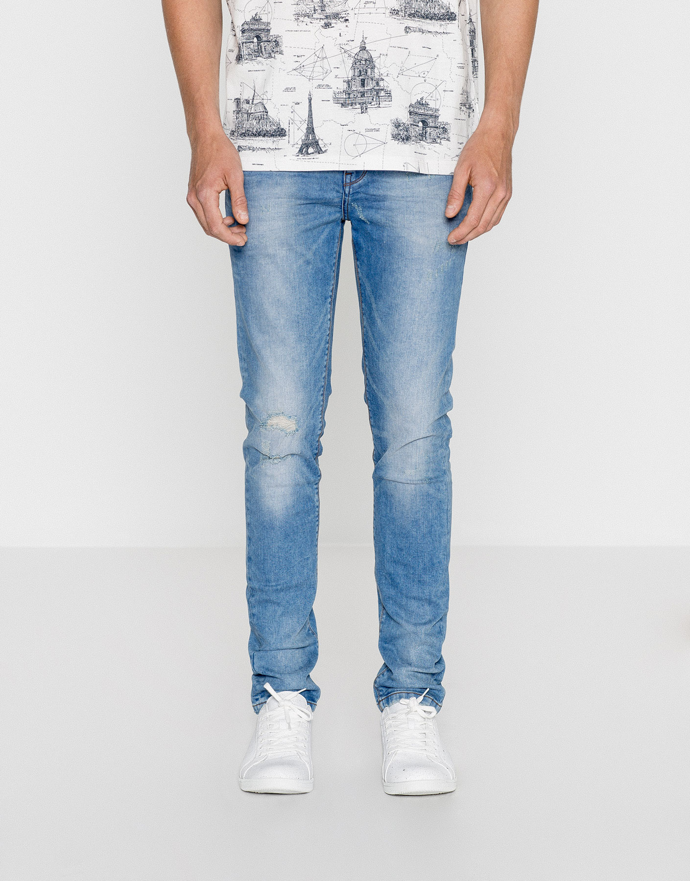 Jeans effetto lavato skinny fit