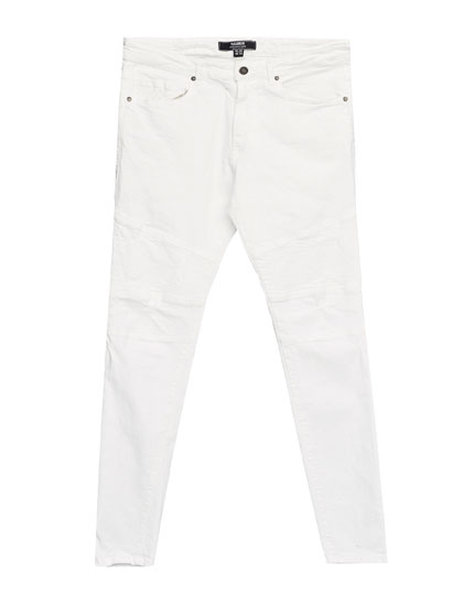 White super skinny fit jeans