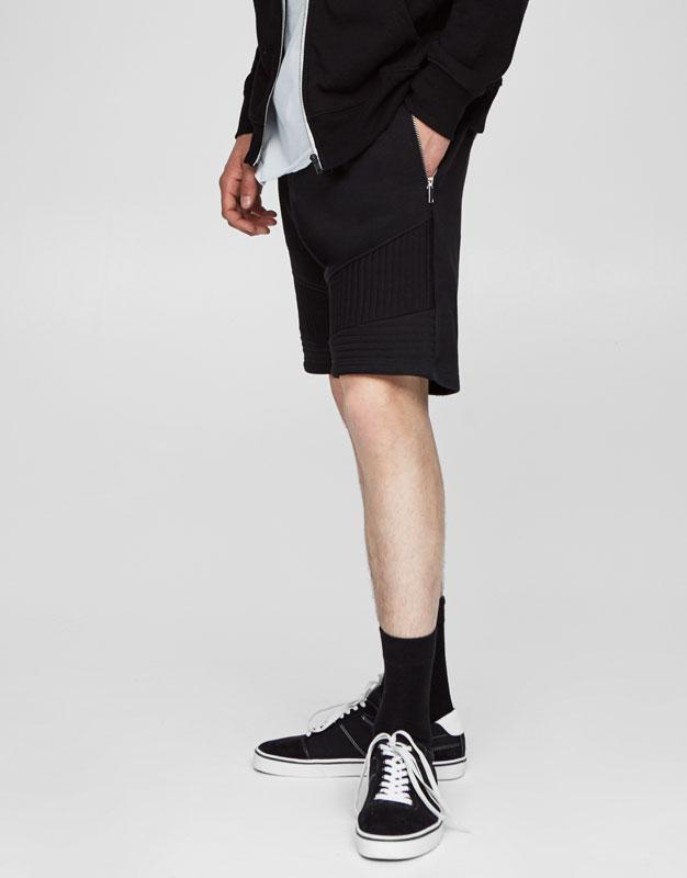 Jogging cut biker bermuda shorts