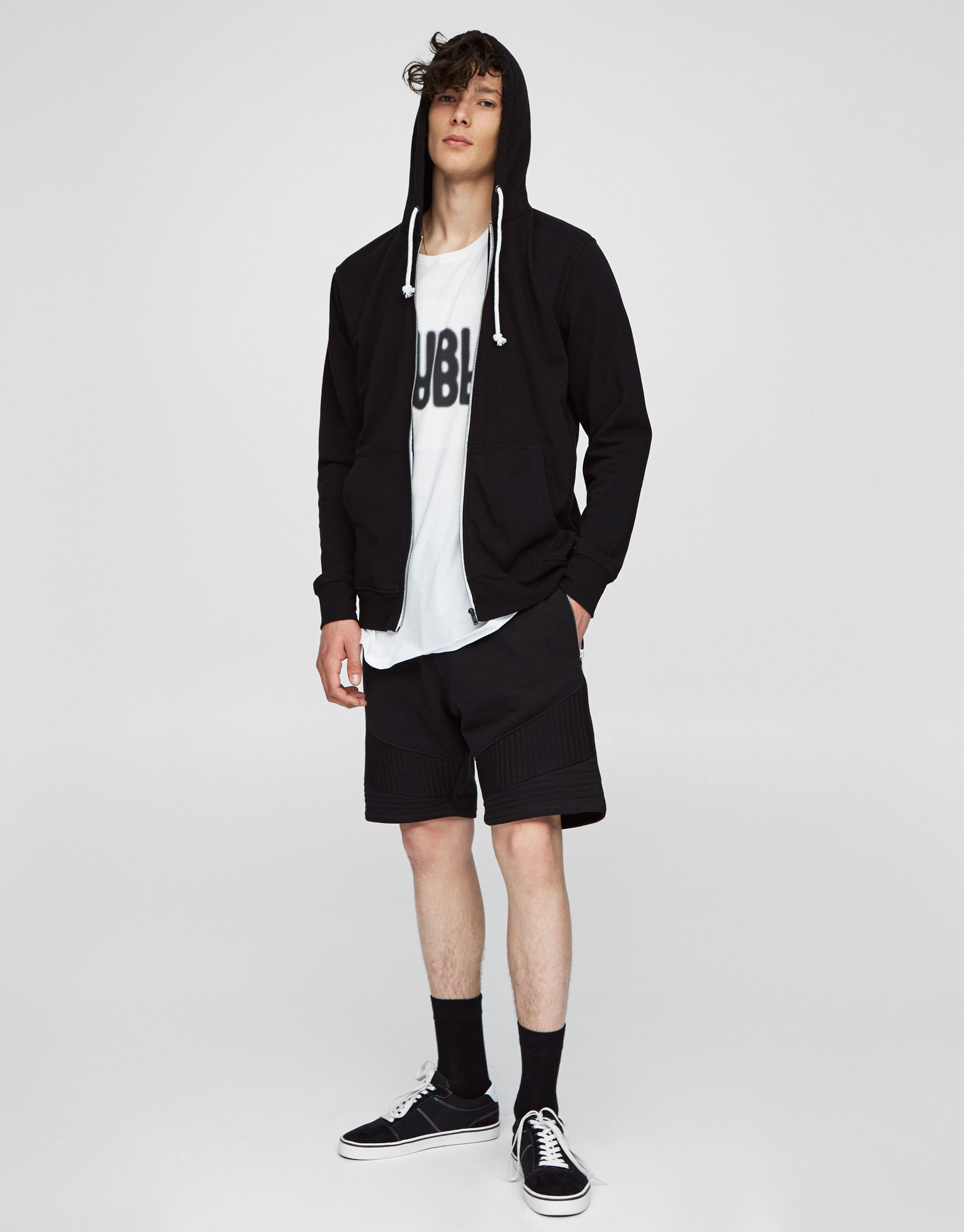 Jogging cut biker bermuda shorts