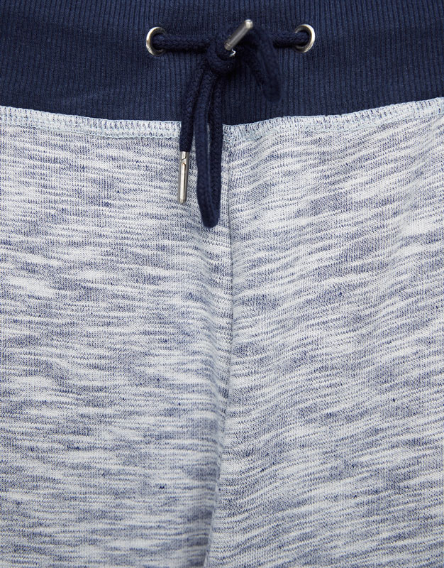 White Bermuda jogging shorts with zips