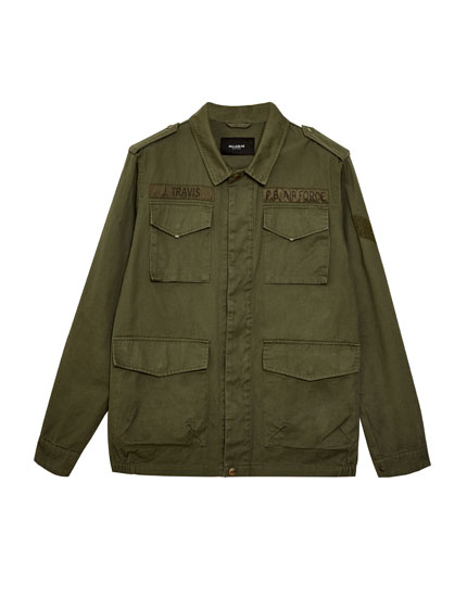 Long fit safari jacket with pockets