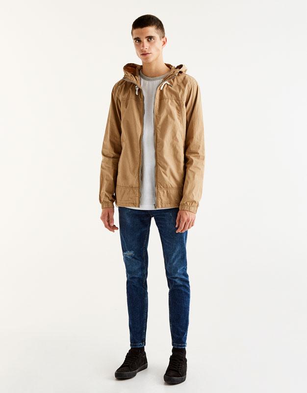 Basic jacket with hood