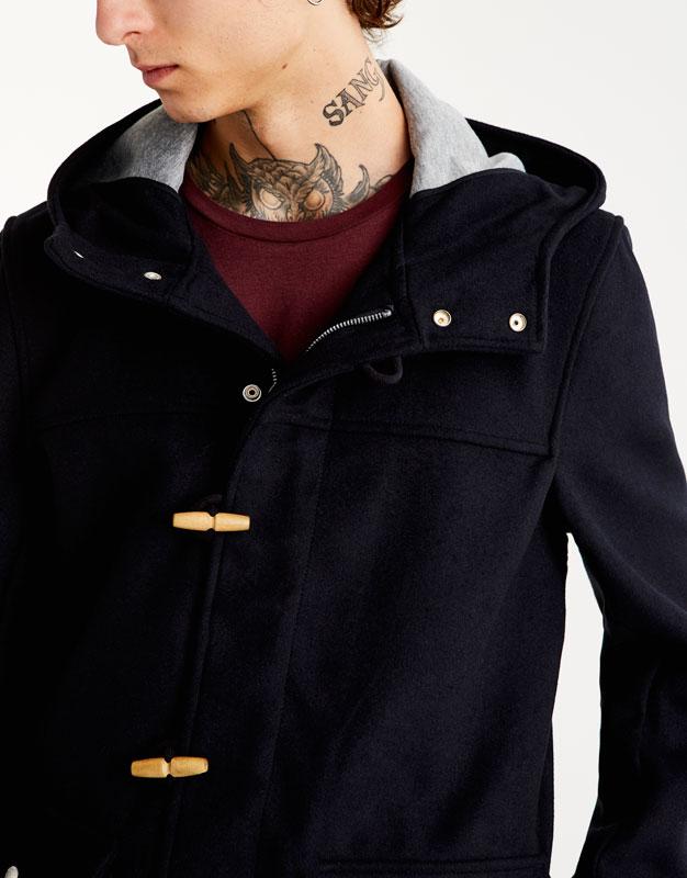 Duffle-coat-style cloth parka