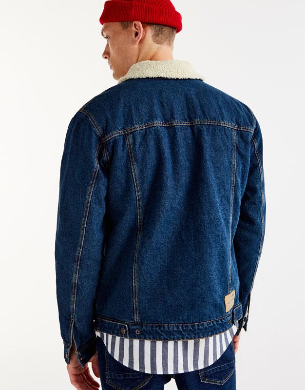 Denim and fleece jacket