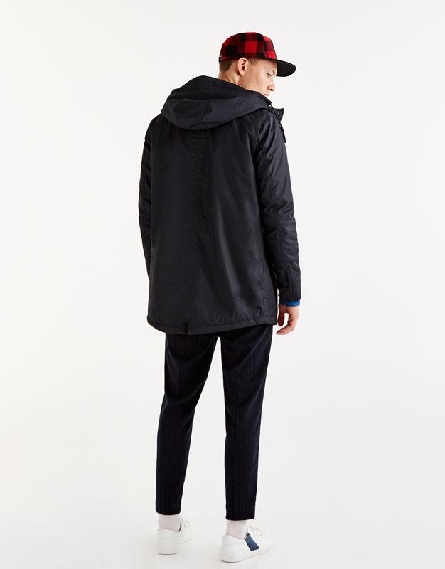 Fleece-lined parka