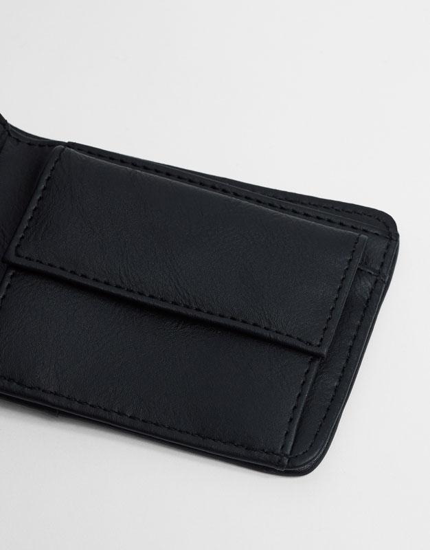 Faux suede wallet