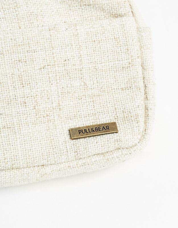 Linen wallet with zip