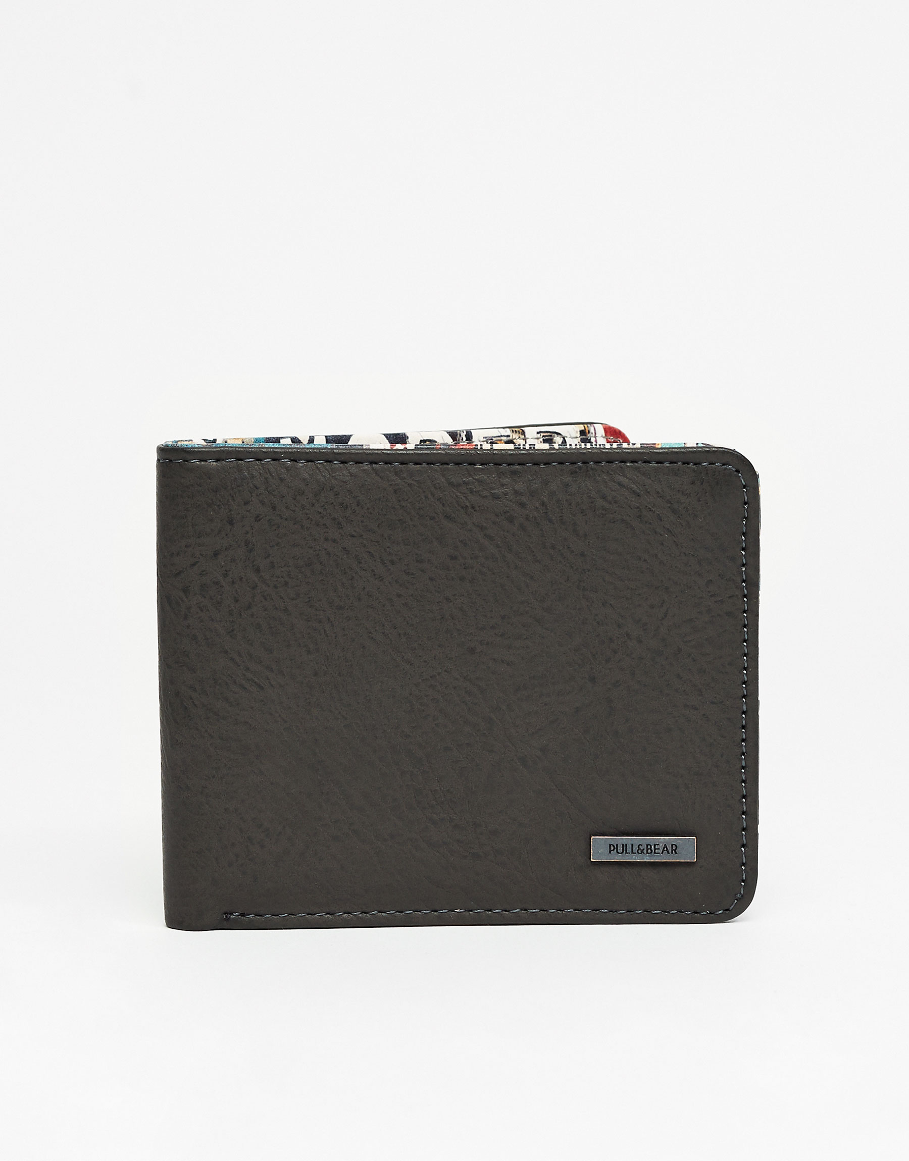 Wallet with printed lining
