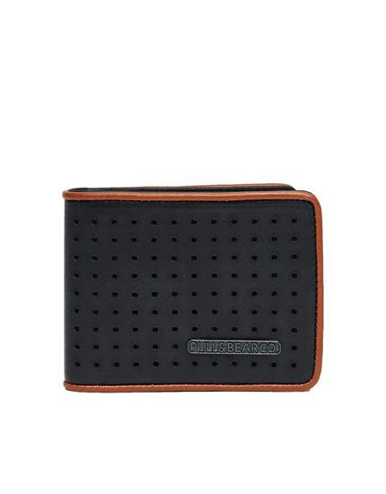 Perforated black wallet