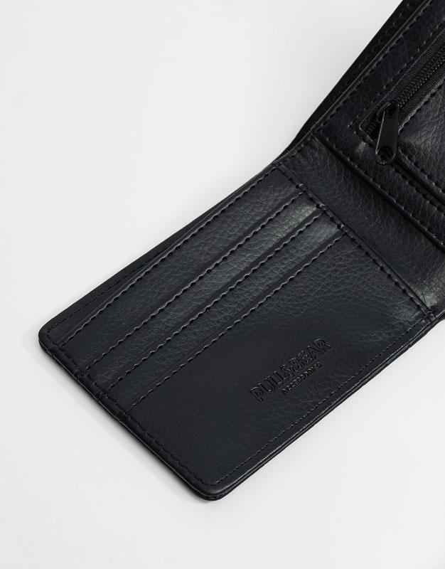 Embossed geometric wallet