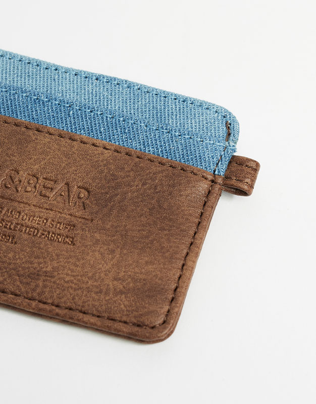 Denim card holder