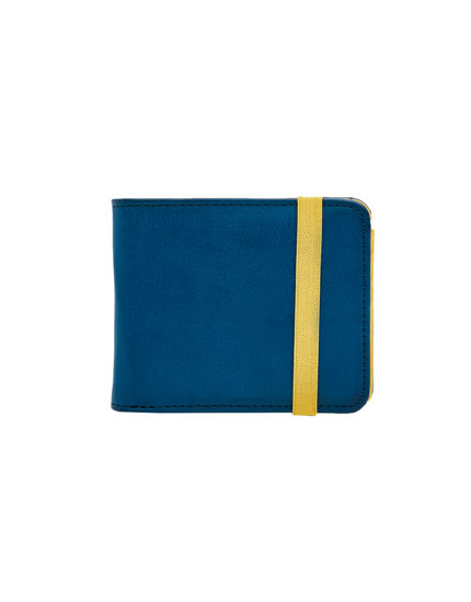 Two-tone elastic wallet