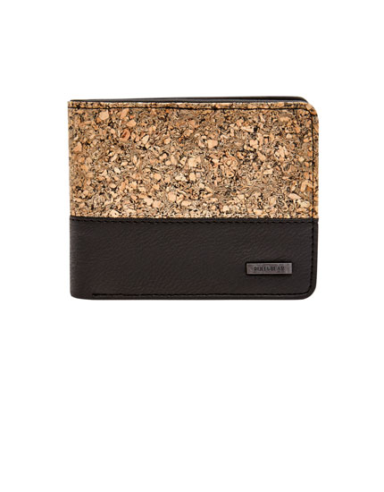 Panelled cork wallet
