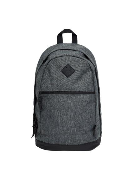 Rucksack aus grauem Segeltuch
