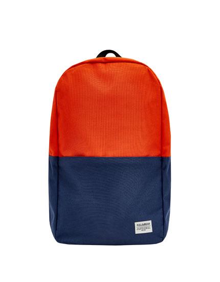 Zweifarbiger Rucksack