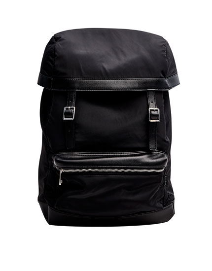 Black backpack with side straps
