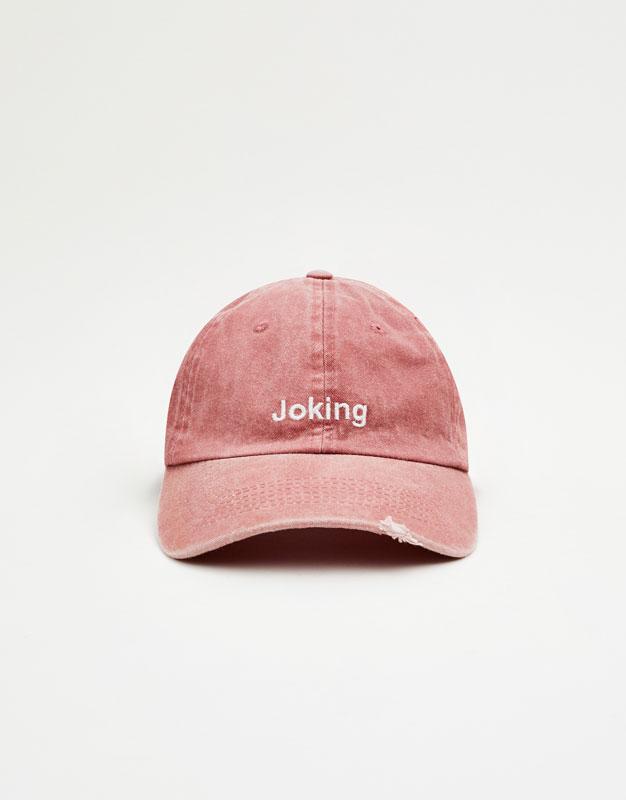 Faded pink cap