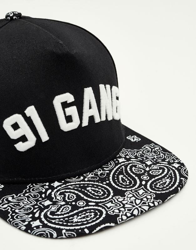 Paisley print cap