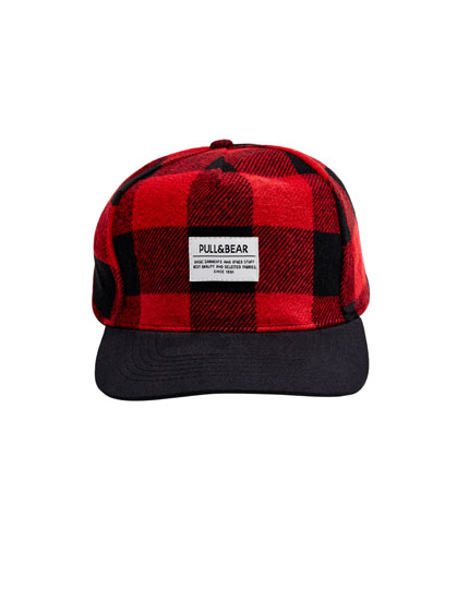 Red checked cap