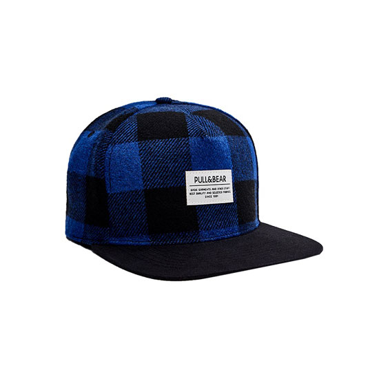 Blue checked cap