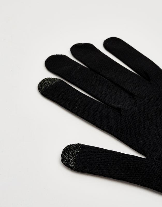 Knit tactile gloves