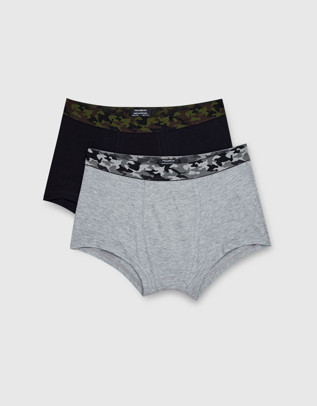 2-pack of boxers with camouflage waistband
