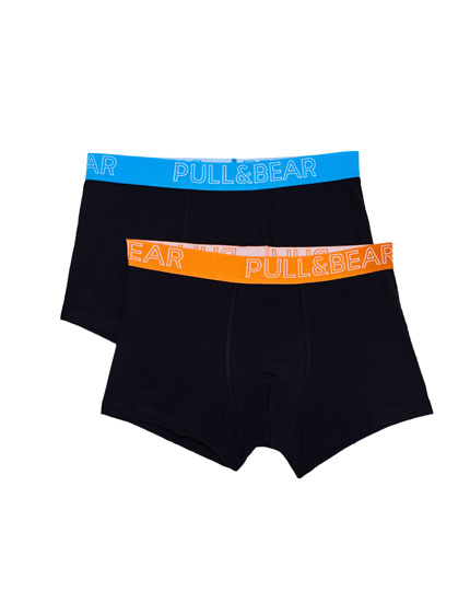 2-pack of boxers with elastic waistband