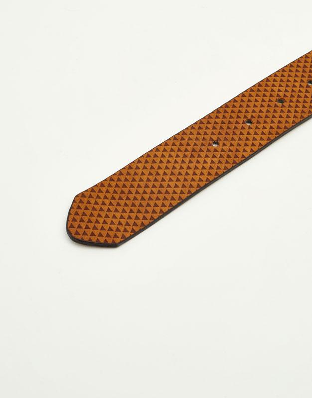 Brown embossed belt