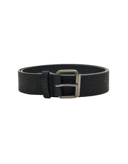 Cinturón grabado negro