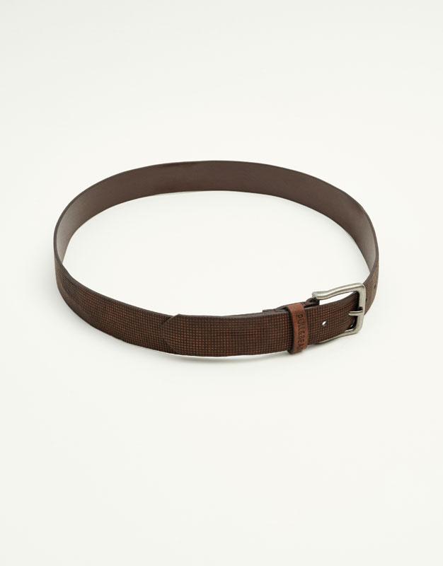 Embossed belt