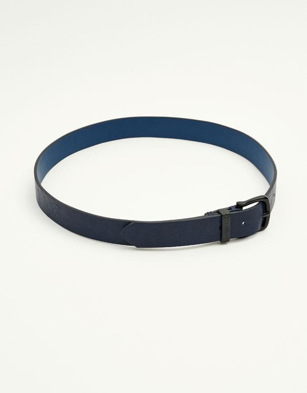 Belt with metallic buckle