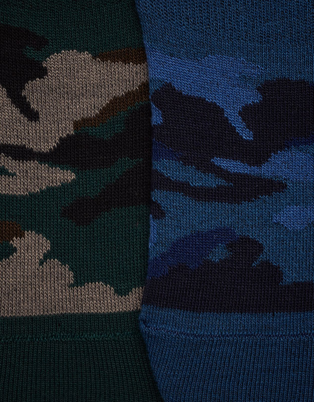 Pack of 5 pairs of camouflage no show socks