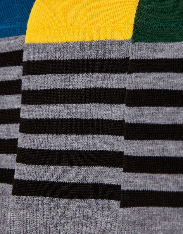 Pack of 5 pairs of striped no show socks