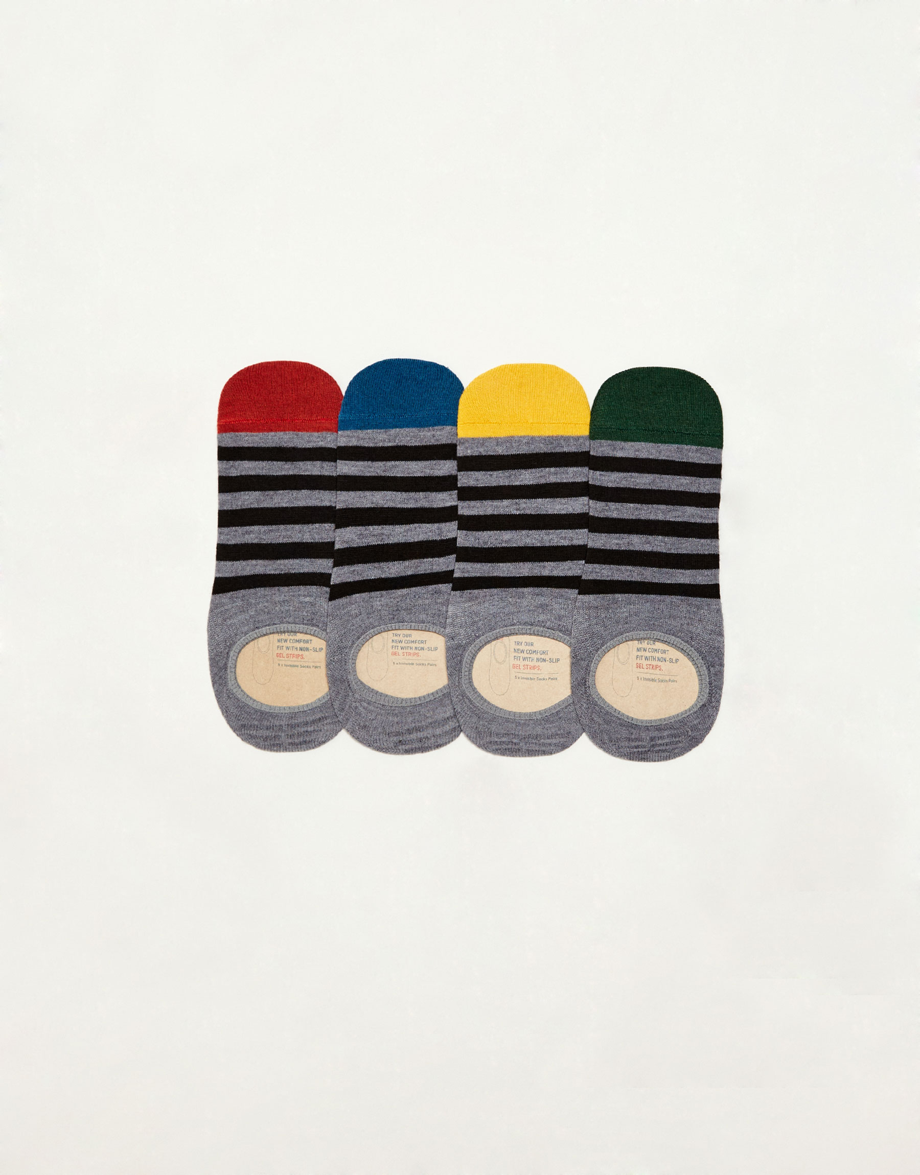 Pack 5 calcetines invisibles rayas