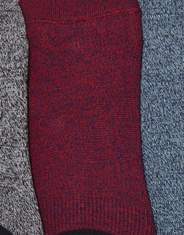 Pack of 5 pairs of flecked no show socks