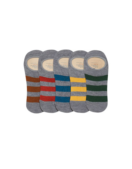 5-pack of invisible socks