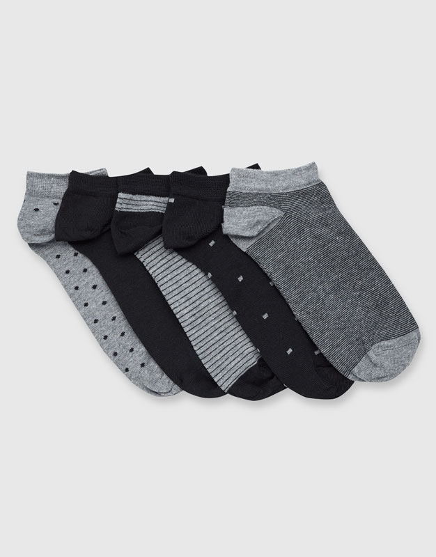 Pack of 5 pairs of ankle socks