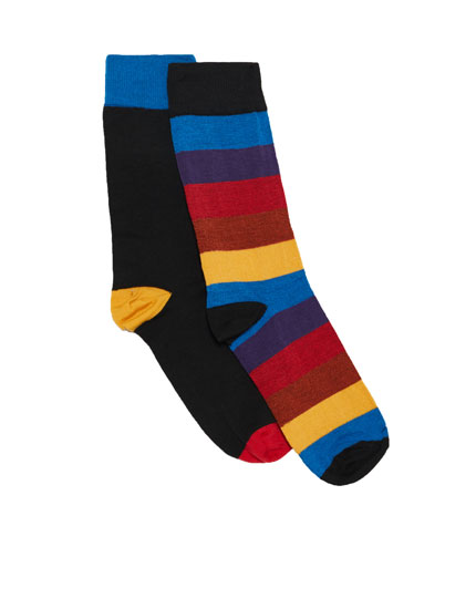 2-pack of long striped socks