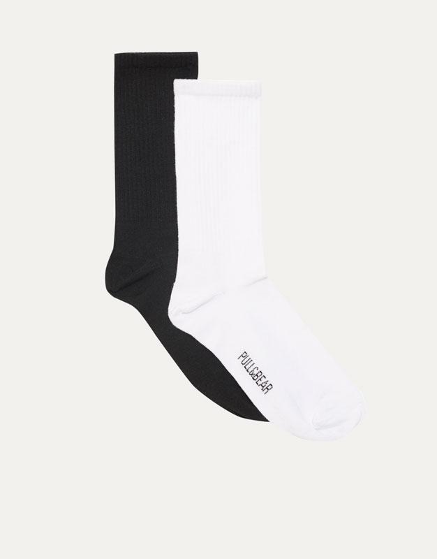 Pack 2 calcetines caño largo