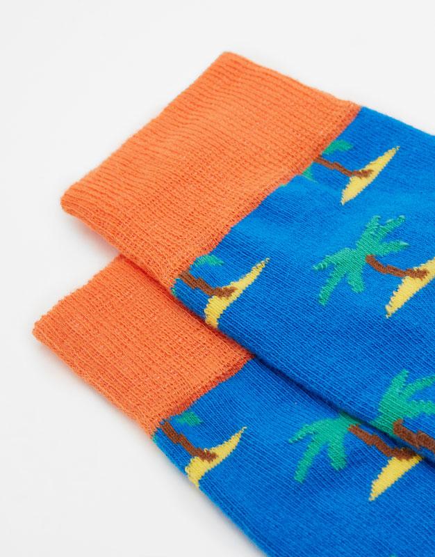 2-pack of long palm tree socks