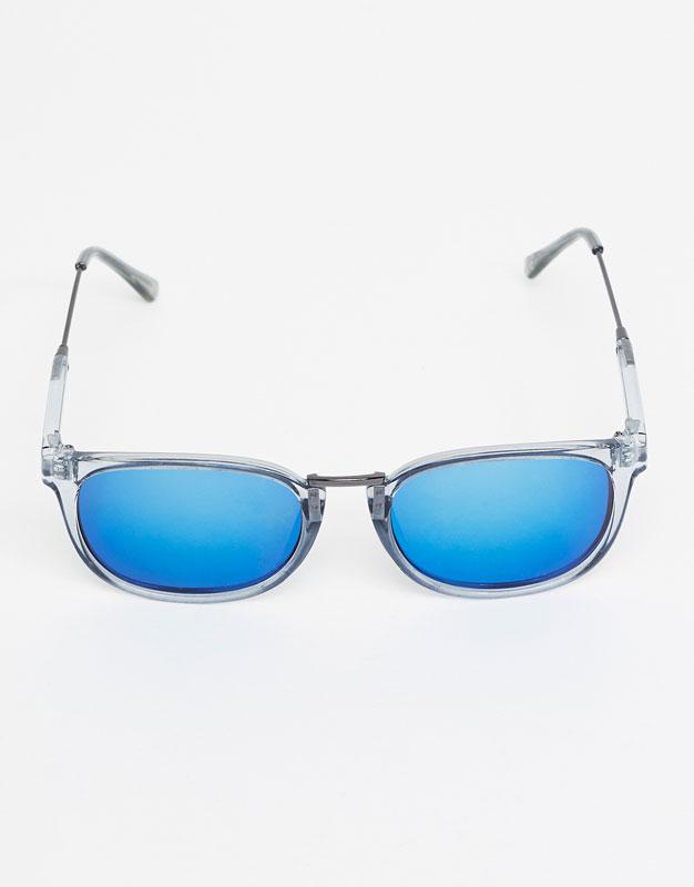 Gafas pasta transparente