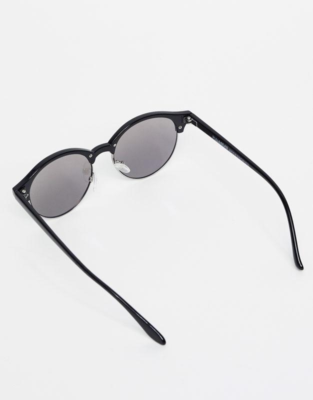 Gafas rendondas montura superior