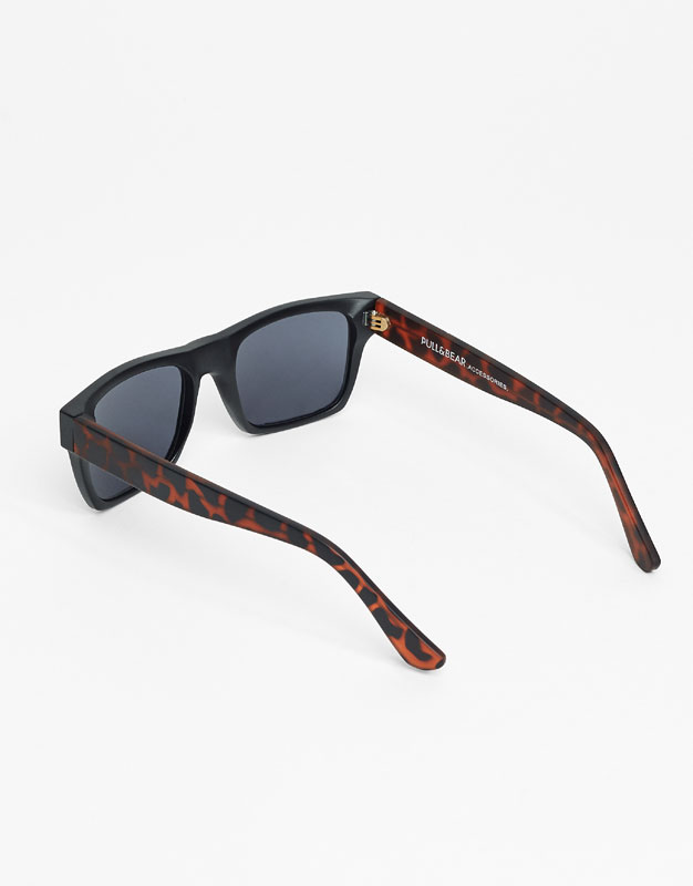 Straight frame sunglasses