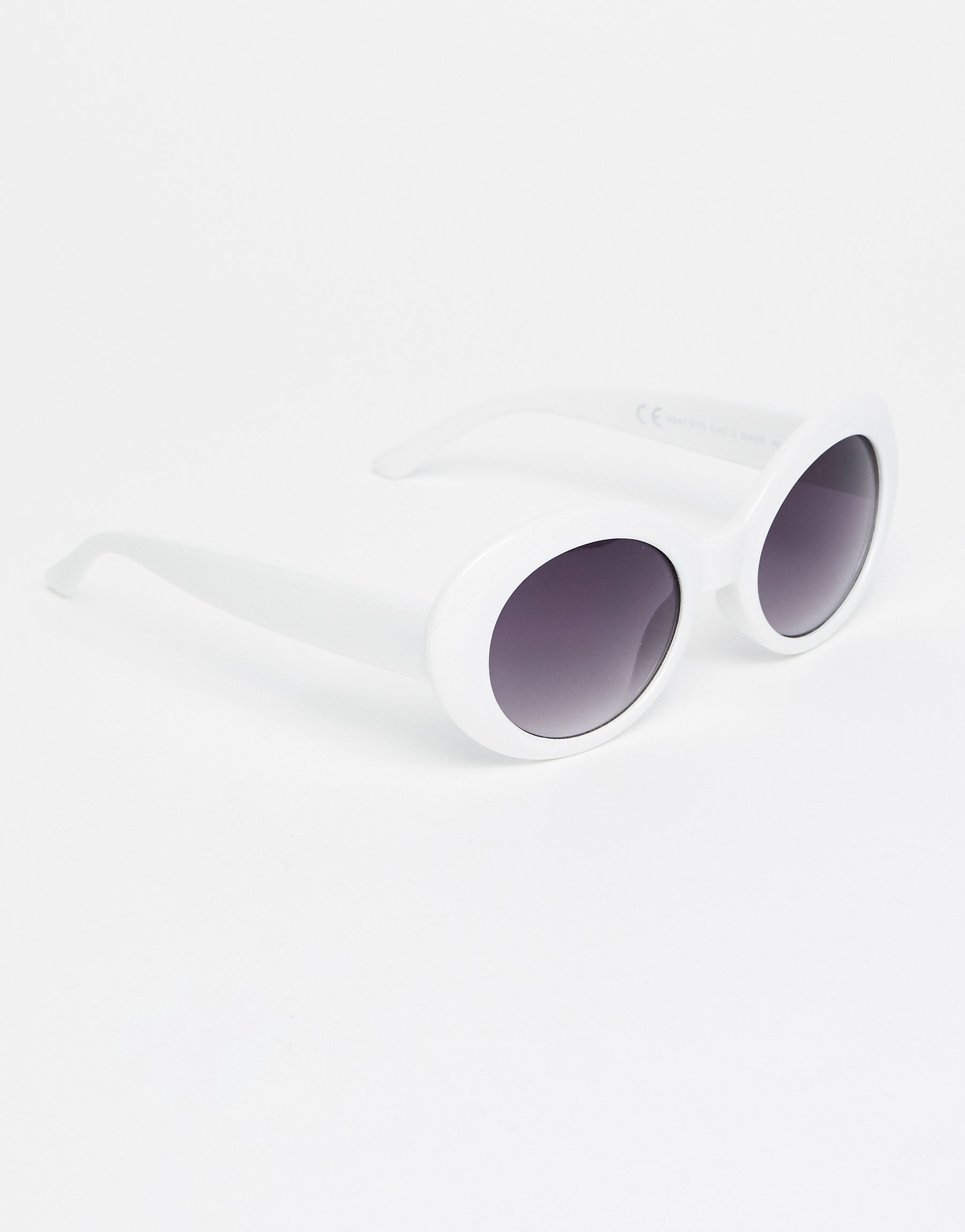 White retro-style resin sunglasses