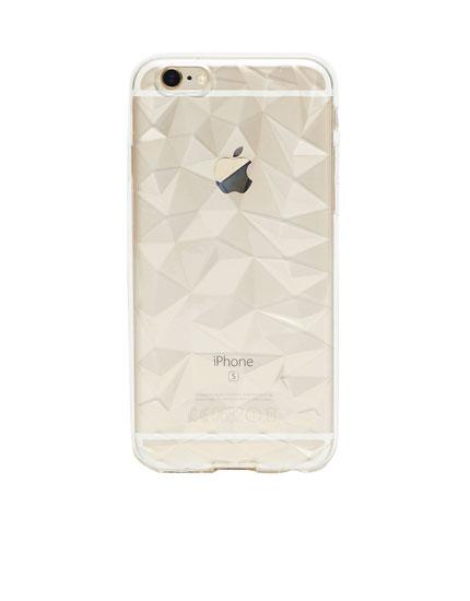 Carcasa iphone tipo diamante